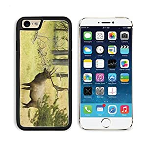 Bull Elk Moose Forest Deer Apple iPhone 6 TPU Snap Cover Premium Aluminium Design Back Plate Case Customized Made to Order Support Ready Luxlady iPhone_6 Professional Case Touch Accessories Graphic Covers Designed Model Sleeve HD Template Wallpaper Photo Jacket Wifi Luxury Protector Wireless Cellphone Cell Phone