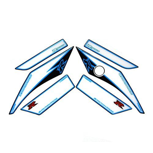 White Front Head Upper Top Side Fairing 3D Gel Protector Sticker Decal For SUZUKI GSXR600 GSXR750 2008 Suzuki Gsxr750 Top