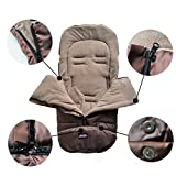 Universal Stroller Sleeping Bag Fits For Most Strollers Joggers Prams and Carseat - The Best Cozy Warmer For Baby Outdoor Walking