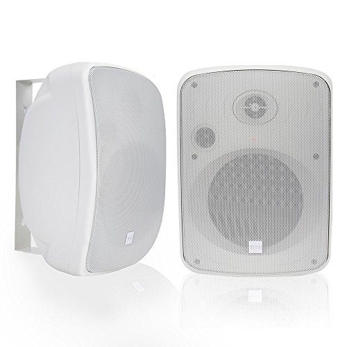 - Pyle Bluetooth Dual 6.5'' Wall-Mount Marine Speakers Active Powered System Indoor/Outdoor Water & Weather Resistant 2-Way Full Range Stereo Sound Gold Plated Post 1000 Watt White (PDWR65BTRFW)