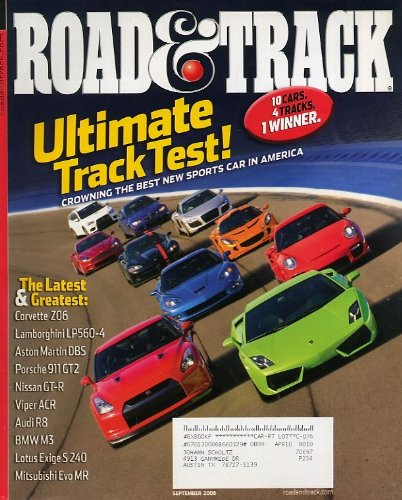Racing Indy Magazine Car (Road & Track September 2008)