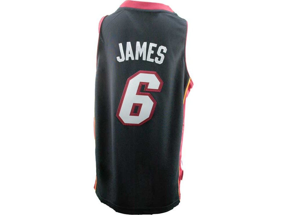 Adidas Boys' Lebron James Miami Heat Revolution 30 Swingman Jersey