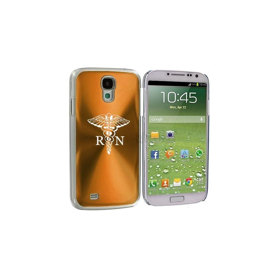 Gold Samsung Galaxy S4 S IV i9500 Aluminum Plated Hard Back Case Cover KK670 Medical Symbol RN Registered Nurse