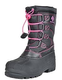 DREAM PAIRS Boys & Girls Toddler/Little Kid/Big Kid Insulated Fur Winter Waterproof Snow Boots
