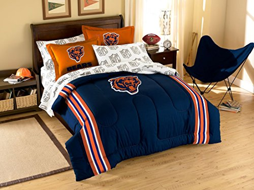 Chicago Bears Full Sheet Set (NFL Chicago Bears Full Bedding Set)