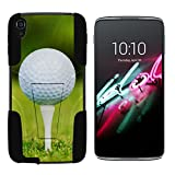 """Alcatel OneTouch Idol 3 Case (5.5"""") [Gel Max Cover] Two Layer Soft Silicone Hard Shell Case Kickstand Sports and Games Design by TurtleArmor - Golf Ball Tee"""
