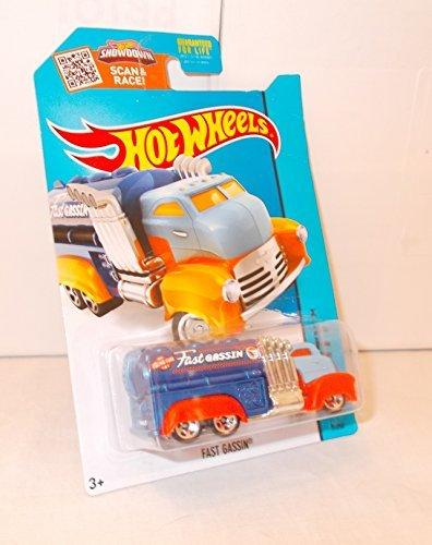 Hot Wheels Mattel 7/250 Fast Gassin - Dark Blue Tank, Light Blue Cab, Orange Fenders - Treasure Hunt Car