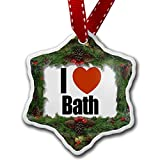 Christmas Ornament I Love Bath region: South West England, England - Neonblond