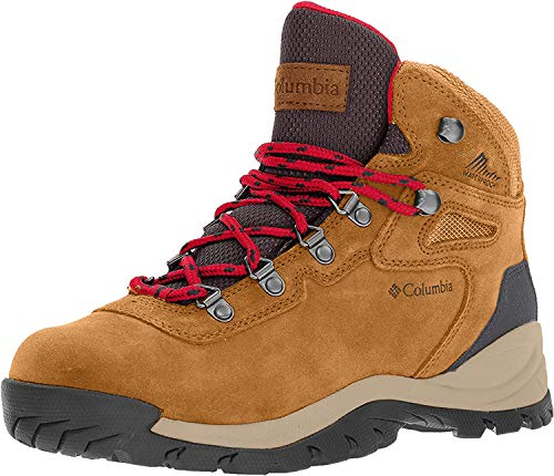 Columbia Women's Newton Ridge Plus Hiking Boot, Elk/Mountain Red, 7.5 Regular US