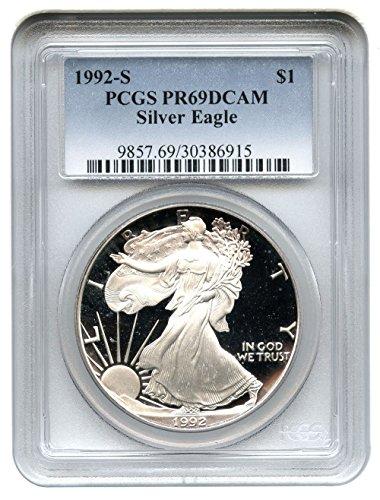 1992 S American Eagle Dollar PR69 PCGS
