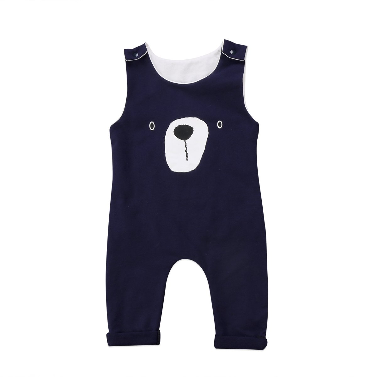 a5131579f Emmababy Newborn Infant Baby Boys Sleeveless Harem Romper Jumpsuit Outfits  Overall Clothes One-Piece Bodysuit (Navy Blue, 18~24M)