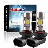 AutoEC 9005/9006 24W 1440LM Super Bright 24 SMD 2835 Chips Led Bulbs For Car Fog Light ,6000K Pure White(Pack Of 2)