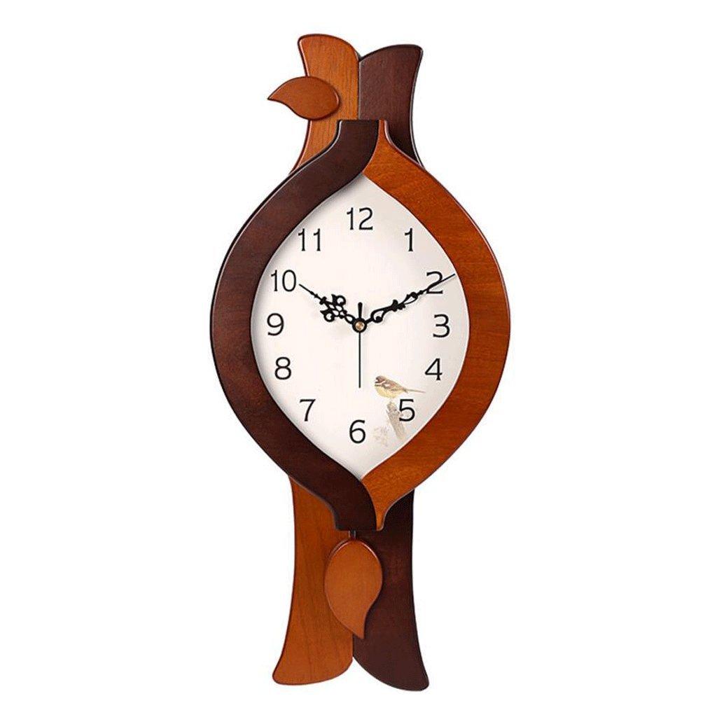 TXXM 中国のウォールクロックウッドスイングモダンミュートクロックリビングルームのベッドルームミニマリストクリエイティブクォーツ時計 B07FJMD8LM