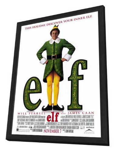 2003 Deluxe Framed - Movie Posters Elf - 27 x 40 Framed