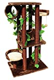 Cool Cat Furniture Jungle Cat Tree Tower with Leaves, Brown