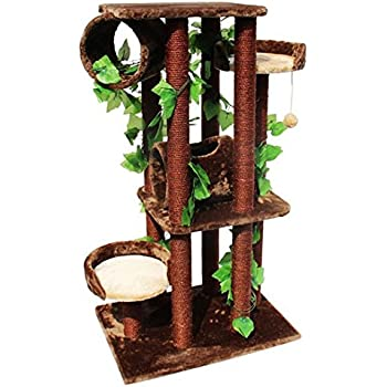 Cool cat furniture jungle cat tree tower with for Cool cat perches