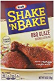 Kraft Shake N Bake BBQ Glaze Seasoned Coating Mix, 6 ounce (Pack of 8)