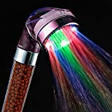 My Home Product Romantic Automatic Bathroom LED Colorful Shower Head RC-9818B Discoloration Shower Pressure Sensitive...