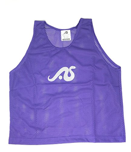 Anaconda Sports 12 Pack Youth Size Solid Color Scrimmage Vest (Purple)