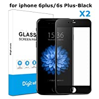 """2-Pack iPhone 6s Plus 6 Plus Screen Protector, DIGITWHALE 3D Full Curve Soft Edge Tempered Glass Screen Protector Film for iPhone 6S Plus and iphone 6 Plus 5.5""""-Black from DIGITWHALE"""