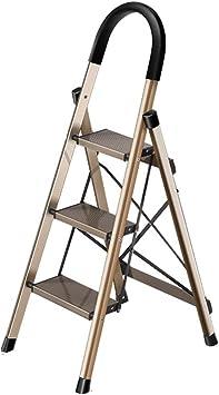 Extensibles Escalera de 3 escalones con pasamanos - Escalera portátil plegable para trabajo pesado - Patas antideslizantes - Ideal para el hogar/la cocina/el garaje: Amazon.es: Bricolaje y herramientas