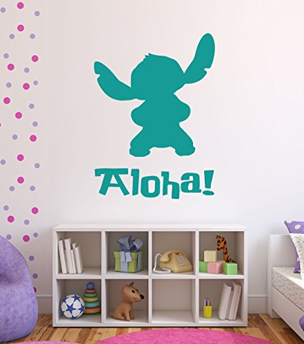 Disney Alien Experiment 626 Stitch Lilo's Best Friend With Aloha Playroom Child Bedroom Nursery Vinyl Wall Art Sticker Decal
