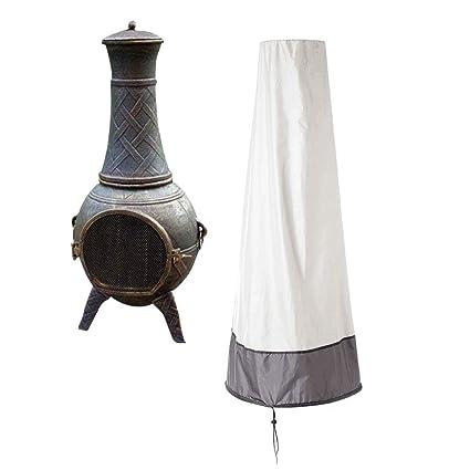 Amazon.com: QEES - Cubierta de chimenea para patio ...