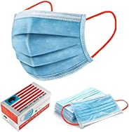 Made In America - 3PLY Disposable Face Protection - Breathable Non-Woven Made in USA, Includes Nose Clip and E