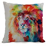 Alphadecor The Lion Pillow Cases Of ,18 X 18 Inches / 45 By 45 Cm Decoration,gift For Bench,kitchen,outdoor,father,teens Girls,shop (two Sides)