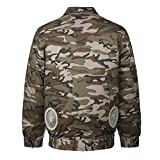 RONSHIN Outdoor Adjustable Air Conditioning Clothes Cooling Conditioned Fan Work Staff Jacket for High Temperature Fishing Hunting