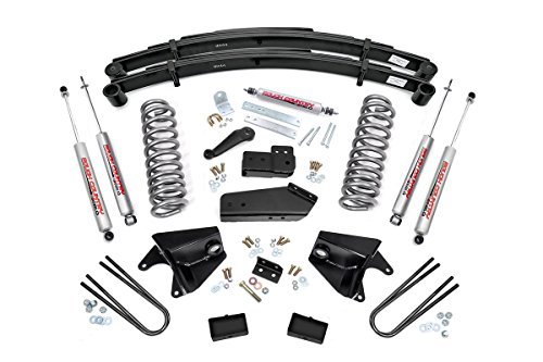 Rough Country - 525.20-6-inch Suspension Lift System w/Premium N2.0 Shocks for Ford: 80-96 Bronco 4WD, 80-83 F100 4WD, 80-96 F150 - Kit 4wd Bronco