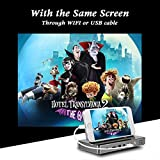 Projector,HD Mini Projector,Portable Pico DLP MOKAOU Android 7.1 Projector Max 120 inch,Support 1080P/Wifi/Bluetooth/HDMI/USB/TF Card/Audio for iPhone,Android,Laptop,Computer