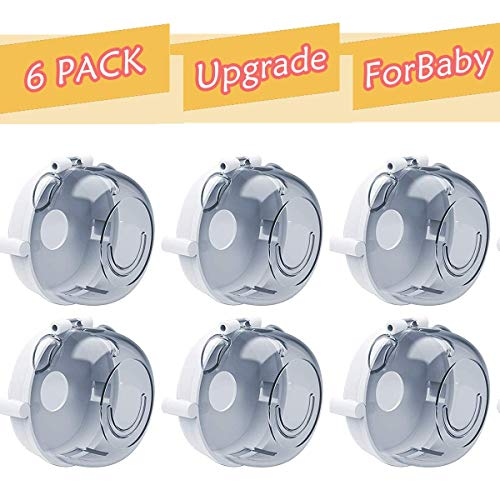 Universal Kitchen Gas Stove Knob Covers – 6 Packs Baby Safety Oven Knob Protection Locks for Child
