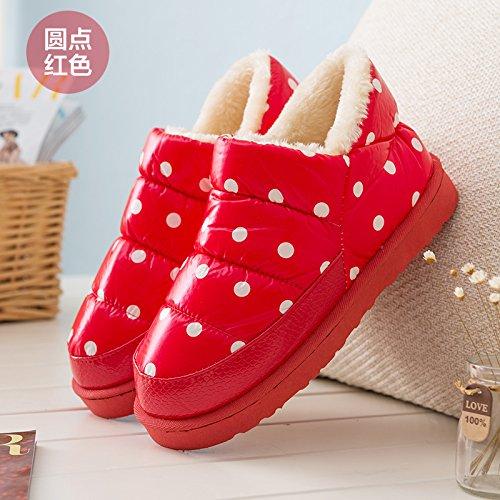 Winter di paio e dense Boots pantofole scarpe DogHaccd rosso1 Snow pantofole calde pantofole uomini home e pantofole di Il donne cotone x1wA5P