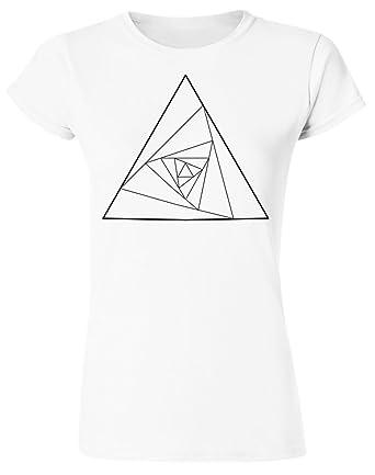 id merce geometric illusion minimalistic triangle shape women s t Geometry Shapes id merce geometric illusion minimalistic triangle shape women s t shirt small white
