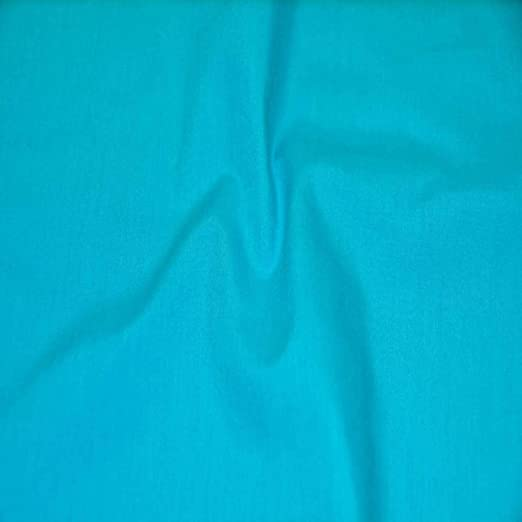 """SOLID POLY COTTON FABRIC Light Turquoise BY YARD 58//60/"""" WIDTH BROADCLOTH"""