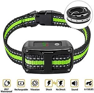 PetYeah Dog Bark Collar-5 Adjustable Sensitivity and Intensity Levels-Dual Anti-Barking Modes-Rechargeable/Rainproof/Reflective -No Barking Control Dog Shock Collar for Small Medium Large Dog