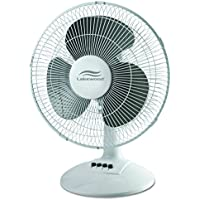 Lakewood LDF1210B-WM 12-Inch Oscillating Table Fan