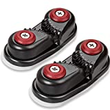 GANGUOLA Cam Cleat for Sailing with Fairlead Sailboat Ball Bearing Cam Cleat Fast Entry Cam Cleat for Line Sizes Upto 5/8-Inch, Aluminum, Sailing Sailboat Kayak(2PCS)