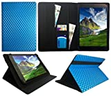 Sweet Tech ANOC 10.1 Inch Android Tablet Blue 3D Cube Universal Wallet Case Cover Folio (10-11 inch)