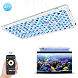 Relassy APP Control LED Aquarium Light Panel- AUTO ON/OFF Timer & Dimmable - Full Spectrum for Coral Reef Grow Fish Tank