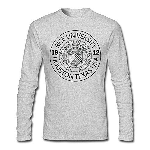 Men's O Neck Rice University EST. 1912 Houston Texas United States Long Sleeve T-Shirt -