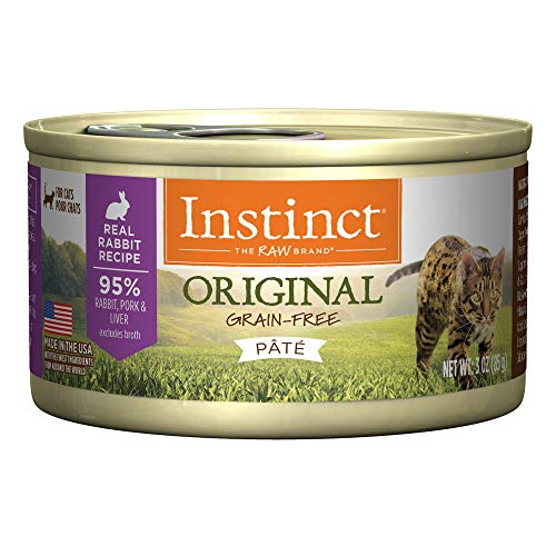 Instinct Original Grain Free Real Rabbit Recipe Natural Wet Canned Cat Food By Nature'S Variety, 3 Oz. Cans (Case Of 24) For Sale