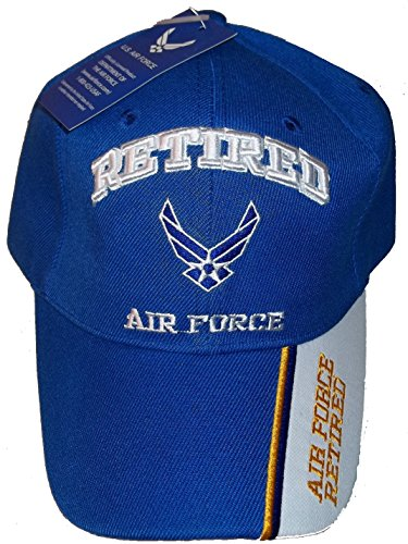 USA Retired Air Force Baseball Style Embroidered Hat Blue USAF Cap Vet Us Veteran