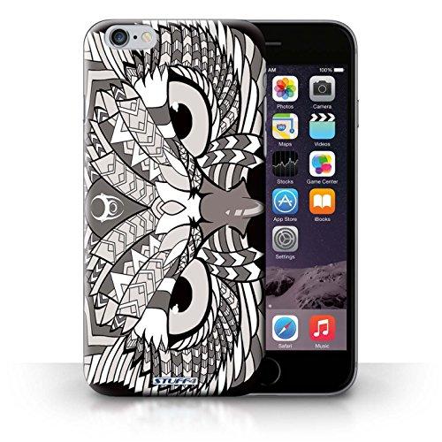 Hülle Case für iPhone 6+/Plus 5.5 / Eule-Mono Entwurf / Aztec Tier Muster Collection