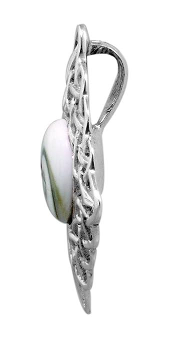 Amazon.com: Sterling Silver Diamond -Shaped Celtic Style Pendant with Eye of Shiva Shell Inlay: Celtic Sea Jewelry: Jewelry