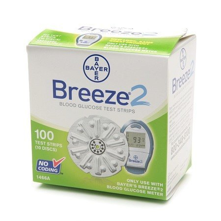 Bayer Breeze2 Test Strips Retail 100Ct