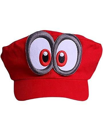 Súper Mario Beanie ODYSSEY ROJO con ojos para para adultos y niñoss y niños  Disfraz de 1e6f93c26a30