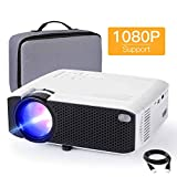 "Projector, APEMAN 4000 Lumen Mini Portable Projector, 1080P Supported 180"" Display 50000 Hrs LED Video Projector, Compatible with HDMI,VGA,TF,USB Laptop,TV Box,Phone,PS4 for Home Cinema - Popular Gift"