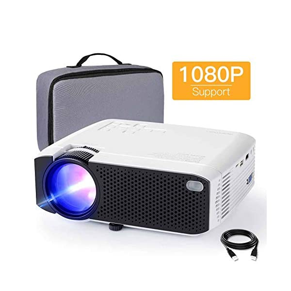 Mini Projector, APEMAN 3800 Lux 1080P Supported Projector, 180″ Display 45000...